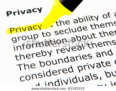 Privacy - stock photo
