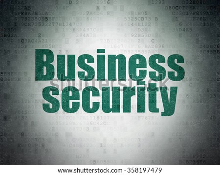 Privacy concept: Business Security on Digital Paper background