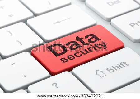 Privacy concept: computer keyboard with word Data Security, selected focus on enter button background, 3d render - stock photo