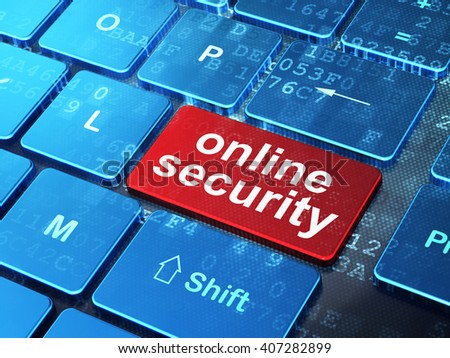 Privacy concept: computer keyboard with word Online Security on enter button background, 3D rendering - stock photo