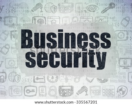 Privacy concept: Painted black text Business Security on Digital Paper background with   Hand Drawn Security Icons - stock photo