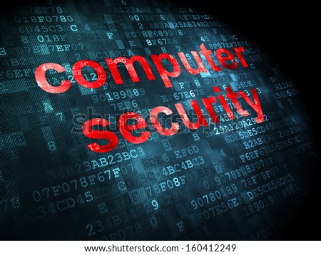 Privacy concept: pixelated words Computer Security on digital background, 3d render