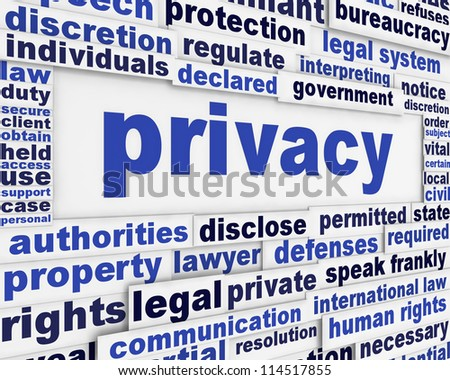 Privacy message background design. Security poster concept - stock photo