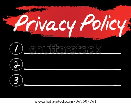 Privacy Policy Blank List concept background - stock photo