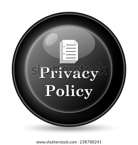 Privacy policy icon. Internet button on white background.  - stock photo