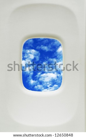 Private Aircraft Window Frame - stock photo
