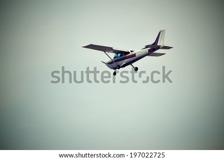 private airplane  - stock photo