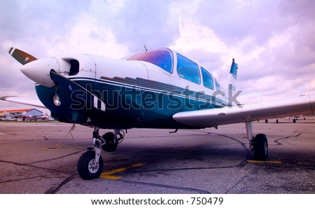 Private Airplane. - stock photo