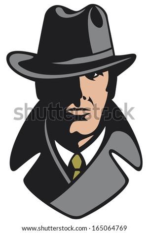 private detective - stock photo