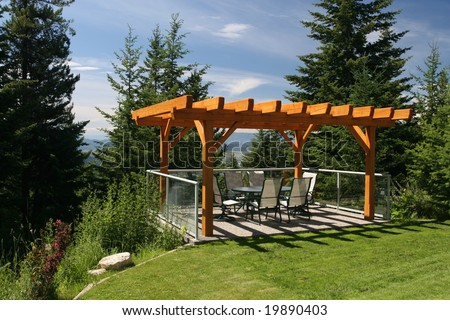 Private Dining Patio - stock photo
