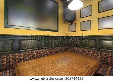 Private dining room in local pub   - stock photo