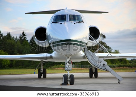 Private jet - stock photo