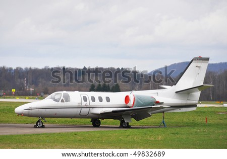 Private jet - stock photo