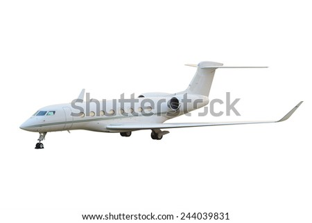 Private jet airplane - stock photo