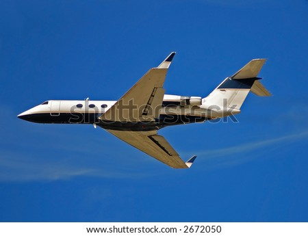 Private Jet Airplane  Stock Photo