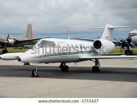 Private jet airplane - stock photo
