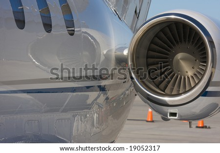 Private Jet and Engine Abstract - stock photo