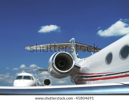 Private jets. - stock photo