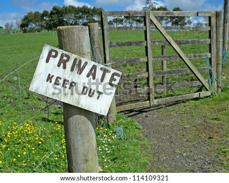 Private Keep Out Warning - stock photo