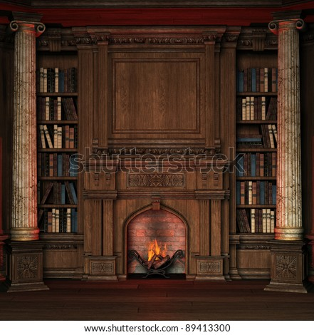 private library - stock photo