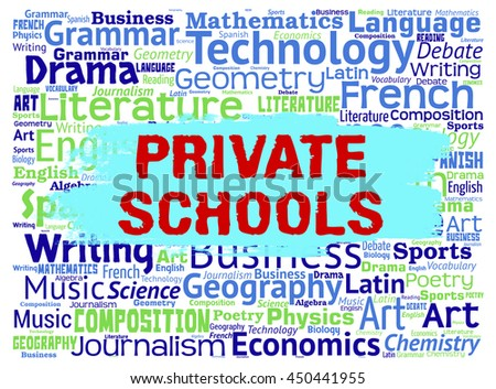 Private Schools Indicating Non Government And Studying