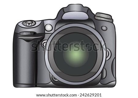 Pro Camera Drawing - stock photo