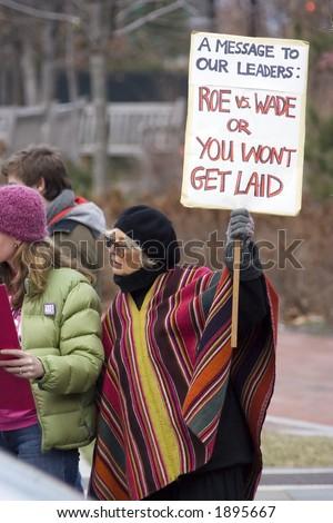 Pro Choice / Anti Bush Demonstration - stock photo