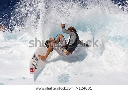 pro surfer Gavin Beschen - stock photo