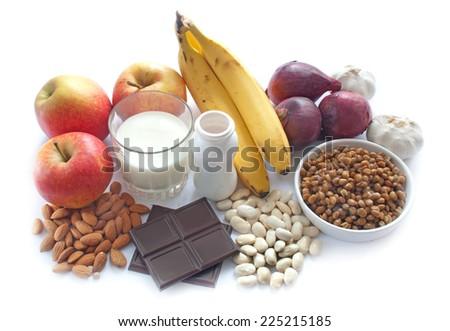 Probiotic (or prebiotic) rich foods - stock photo
