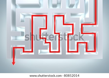 Problem and Soluiton - stock photo