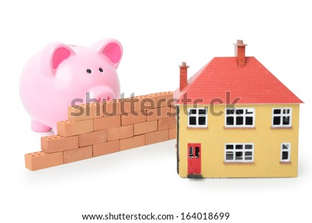 problem getting a house? isolated on a white background