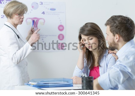 Problem of infertility and in vitro process - stock photo