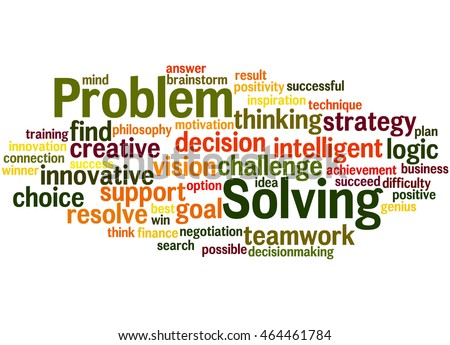 Problem Solving Word Cloud Concept On Stock Illustration ...