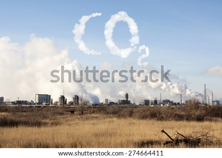 Problems of ecology - environmental contamination - stock photo