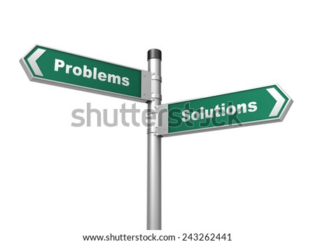 problems solutions sign