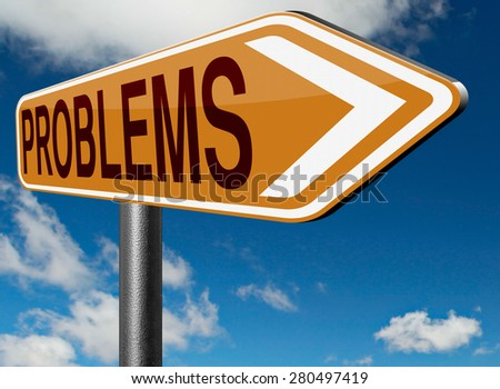 problems solved solutions found no problem without solution road sign - stock photo