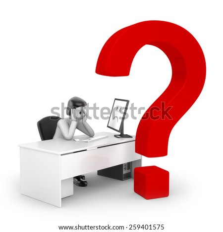 Problems with computer - stock photo