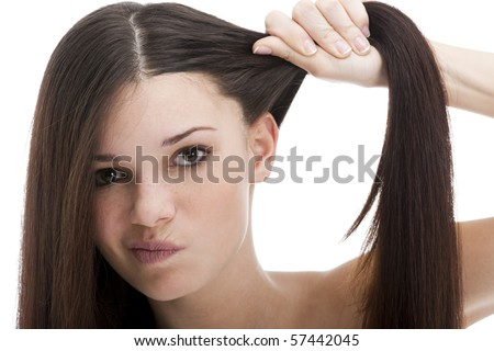 Problems with Hair - stock photo
