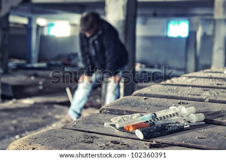 Problems with illegal drugs - stock photo