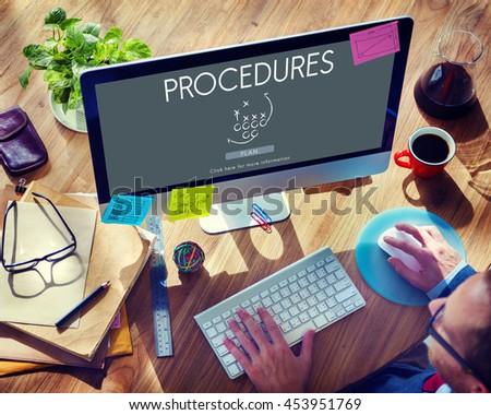 Procedures Process Steps System Business Plan Concept - stock photo