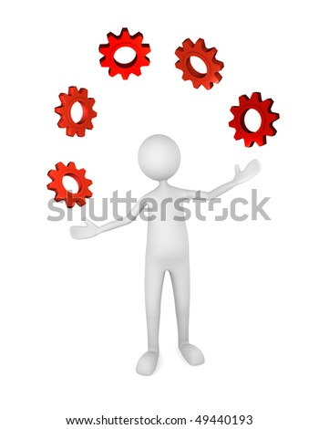 Process Management; great for management, business, industry concepts. - stock photo