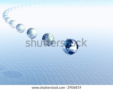 Process of evolution. Formation of a planet. The Earth. Abstraction. - stock photo