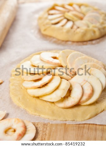 Process of making apple pie - stock photo