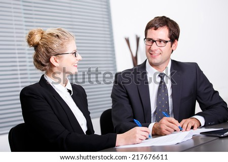 Process of signing new business contract