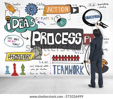 Process Plan Action Business Concept - stock photo