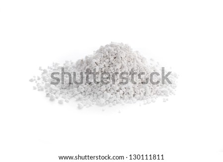 Processed perlite is a versatile natural mineral utilized in horticulture, construction and many other industries. - stock photo