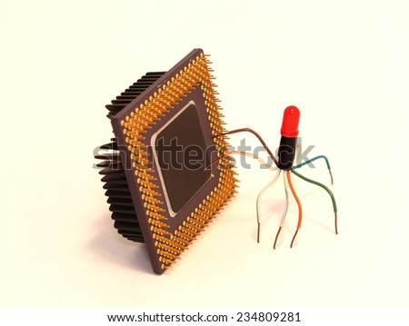 processor error viruses handmade - stock photo