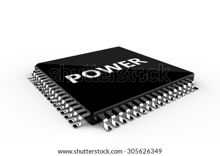 Processor unit isolated on a white background - stock photo