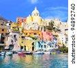 Procida, island in Italy, Naples - stock photo