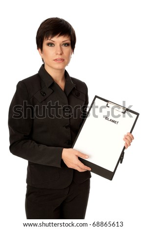 Procurator examines in details the inculpatory evidence reported by detective - stock photo